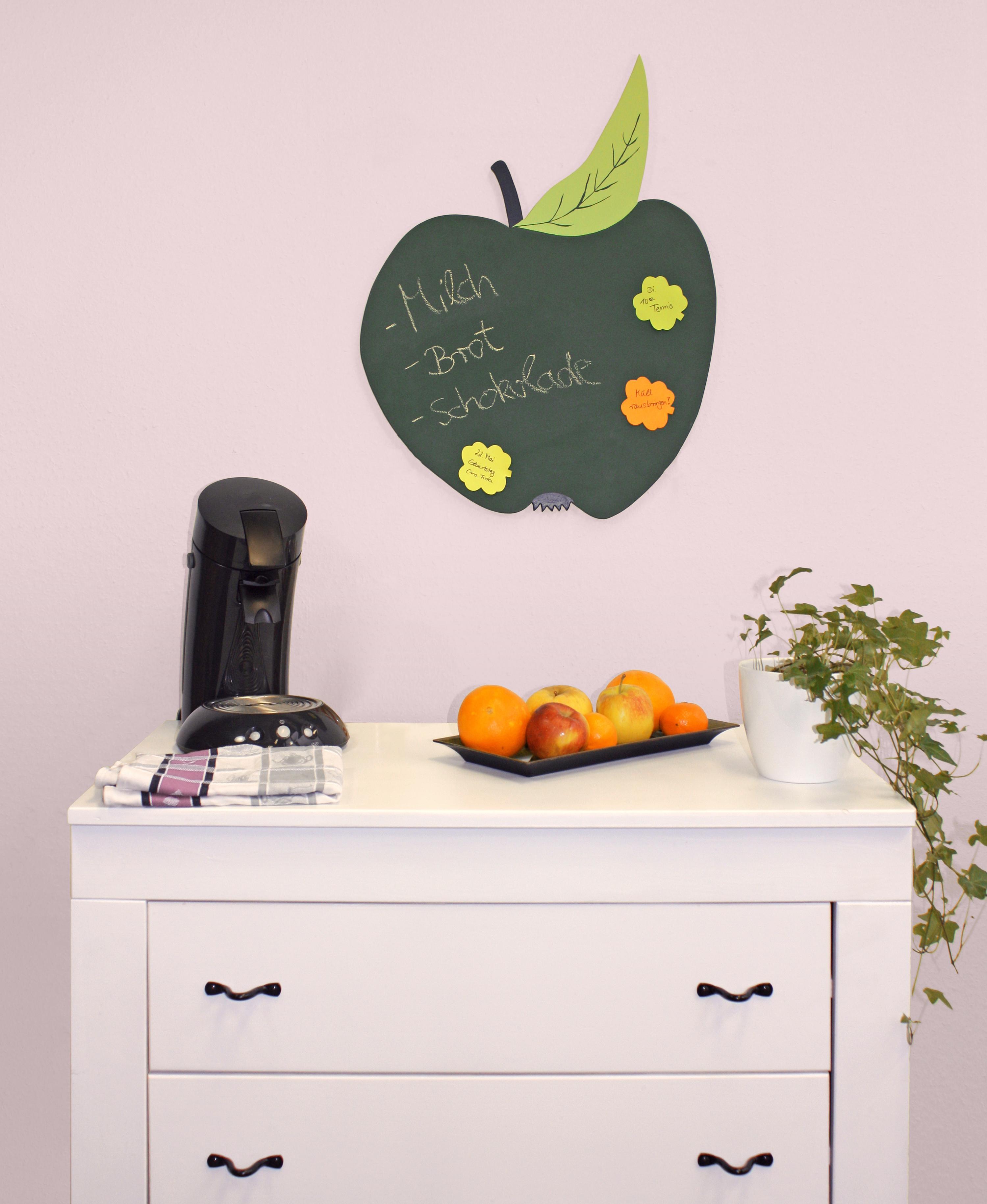 Apple blackboard kitchen
