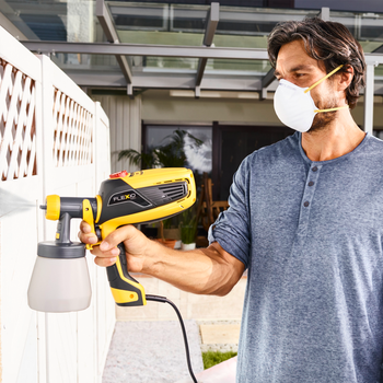 The compact hand-held paint sprayer for interior and exterior use