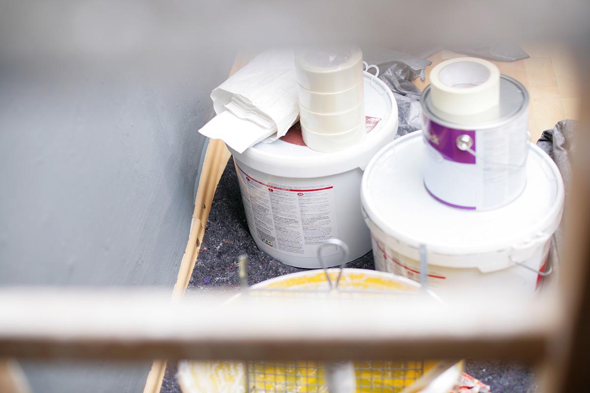 Wandfarben zum Sprühen oder Streichen
